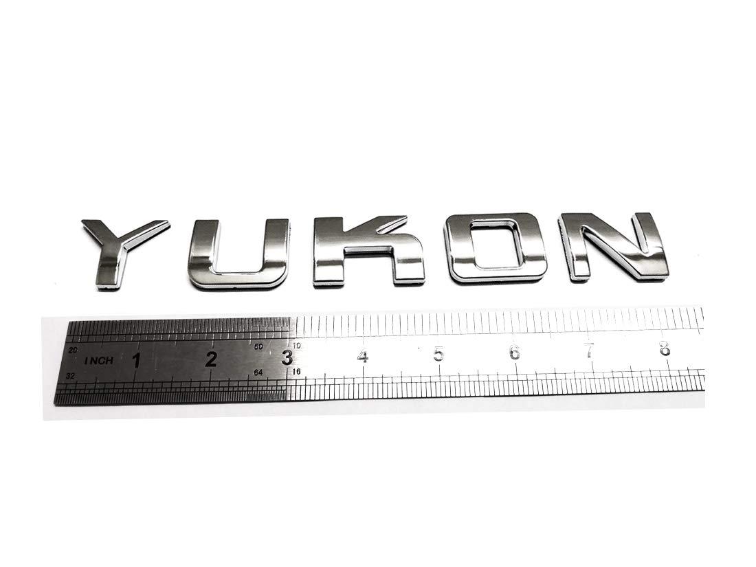 Black 1x Yukon Nameplate Emblem ABS Letter Badge 3D Replacement for GMC Yukon Sierra Terrain Suburban Glossy Shiny Emzscar