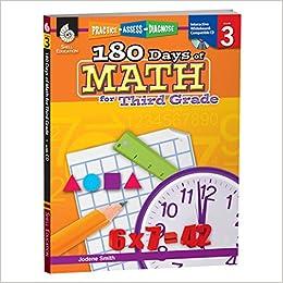 Amazoncom 180 Days Of Math For 3rd Grade Third Grade Math