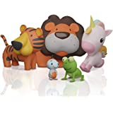 SplashEZ MoldFree Bath Toys for Babies 1M+ and Toddlers , 5 Pack Animal Bath Toys No Holes, Non Squirting Bath Toys for…