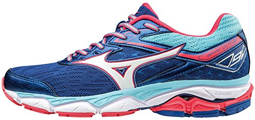 para bluetopaz Wos Mujer de Running Zapatillas Trueblue Mizuno Wave Multicolor Ultima white Tqw646