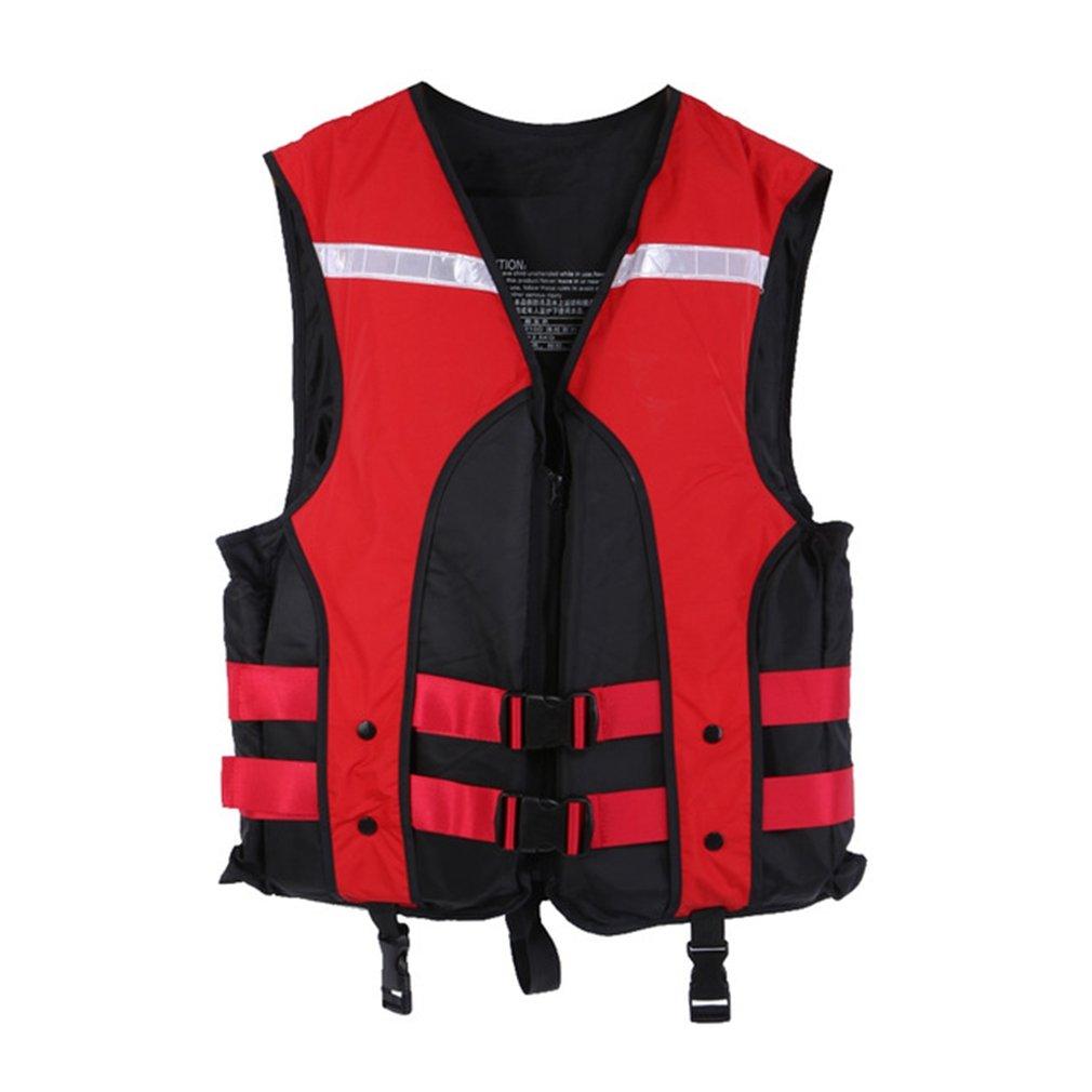 ebrickon水上スキースポーツライフベストジャケット救命胴衣大人用Lifejacket釣りLife Savingベストインフレータブルライフジャケットforドリフト B07F2KBD3G  レッド