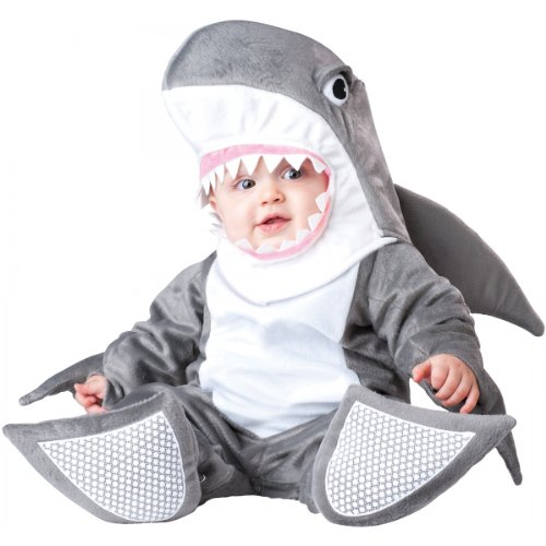 InCharacter Costumes Baby's Silly Shark Costume, Grey/White, Medium(12-18 Months)]()
