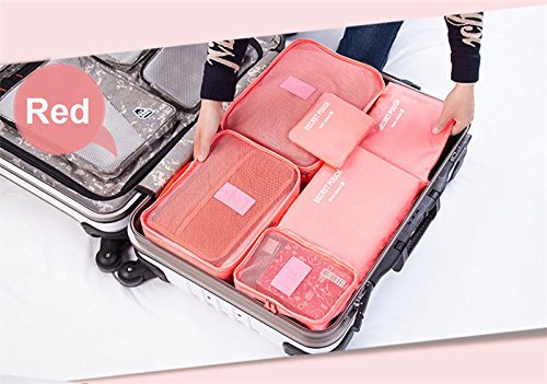 6 Pcs Travel Storage Bag Set For Clothes Tidy Organizer Pouch Suitcase Home Closet Divider container Organiser New Arrival (Nike Air Jordan Storage Box)