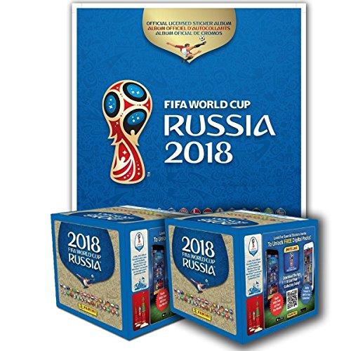 Panini 2018 FIFA WORLD CUP RUSSIA ALBUM + 2 BOXES from Panini