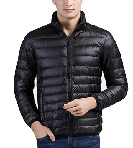 Coat Puffer amp;S Men's Jacket Lightweight amp;W M Black Down Packable Iq86pw8x1