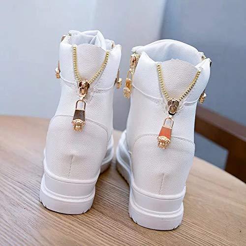 Sneakers Mode Cheville Hiver Bottine Blanc Femme Baskets Plateforme Chaussures Montante Sport Sports Moonuy Compensées Plate Plates De Solide Rond Bout Boots Chelsea Basique xT1qwng