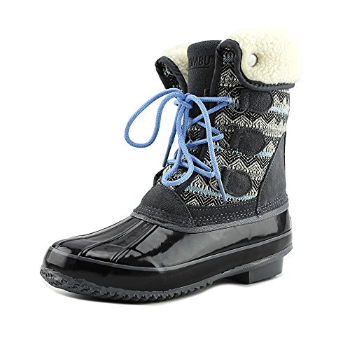 Fabric Black Toe Boots Khombu Calf Mid Womens jenna Weather Closed Cold Grey PqwwpEf
