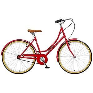 """Viking Campus - Bicicleta de paseo para mujer, ruedas de 26"""", cuadro de 18"""", color rojo"""