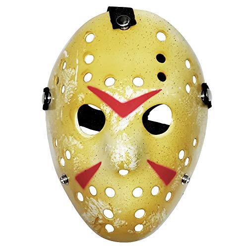 ZLIXING 2 Pcs Jason Mask Scary Halloween Costume Hockey Mask for Men Women Adults Kids Horror Cosplay Rave Party ()