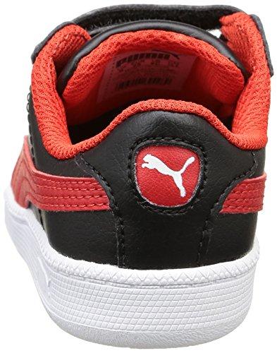 PumaSmash Fun L V - Zapatillas Unisex Niños Noir (Black/High Risk Red)