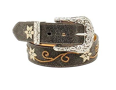 M&F Western Women's Floral Embrodery Belt Black MD