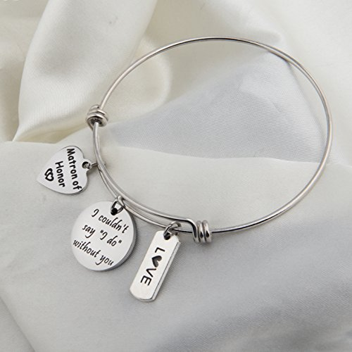Zuo Bao Bridesmaid Gift I Couldn't Say I Do Without You Bracelet Matron of Honor Jewelry Maid of Honor Proposal Gift (Silver) by Zuo Bao (Image #2)
