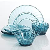 GH Estelle 12pc Dinnerware Set, Teal, Acrylic – W/ Gbx