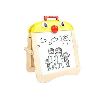 Liufs Tablero De Dibujo Para Niños Blanco Y Negro Magnético De Doble