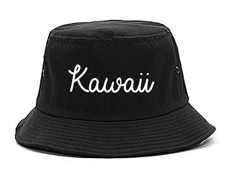 Amazon.com  Kawaii Cute Script Chest Bucket Hat Black  Clothing 4b813824442
