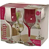 Ravenhead Tulip White Wine Glasses, Sleeve of 4, Transparent, 20 cl