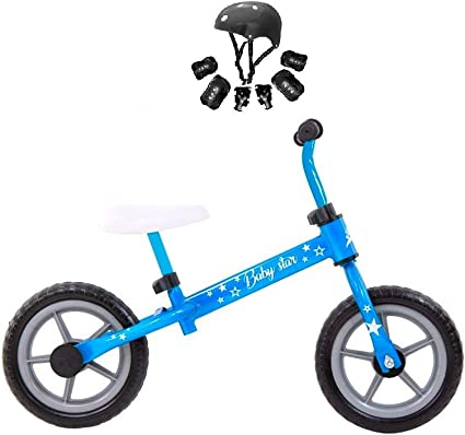 Grupo K-2 Riscko - Bicicleta sin Pedales con sillín Y Manillar Regulables   Ultraligera   Correpasillos Minibike   Bicicleta para Niños de 2 a 5 años Baby Star Azul: Amazon.es: Deportes y aire libre