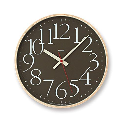 Lemnos タカタレムノス AY clock RC 電波時計 AY14-10 掛け時計 ウォールクロック ブラウン B06WVBR8JY