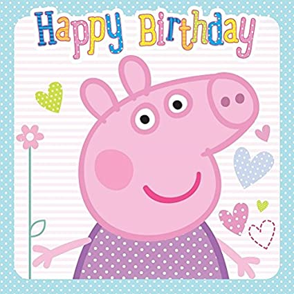 Image Unavailable Not Available For Color Peppa Pig Happy Birthday Card