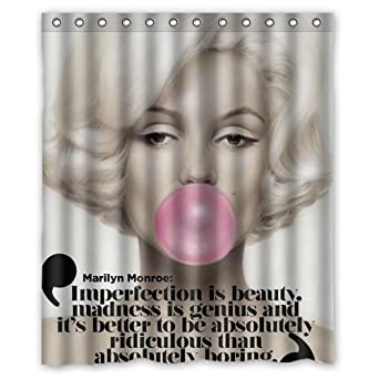 Personalize Waterproof Bathroom Shower Curtain 60quot X 72quot Sexy Zombie Marilyn Monroe Colorful Scenery