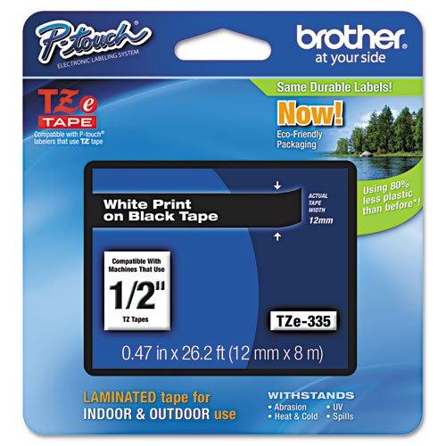 - Brother International TZE-335 White on Black 1/2