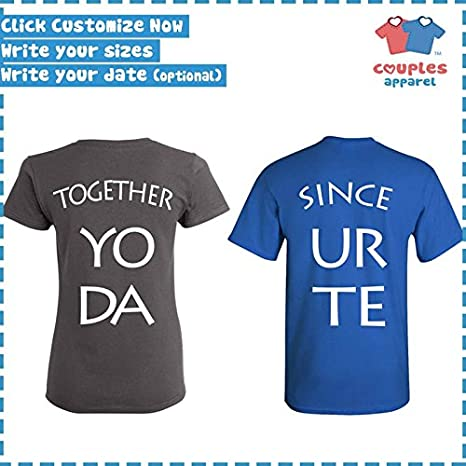 321b1b05 Amazon.com: Mr. & Mrs - Matching Couple Shirts - His and Her T-Shirts -  Tees: Clothing