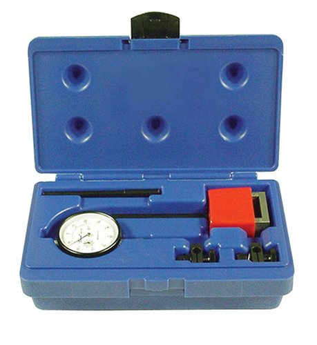 Central Tools 6410 1.00-Inch 0-100mm Range Dial Indicator Set
