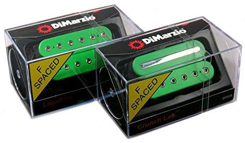 DiMarzio LIQUIFIRE & CRUNCH LAB F-spaced Humbucker Guitar Pickup Set, GREEN DP227 & DP228 by DiMarzio
