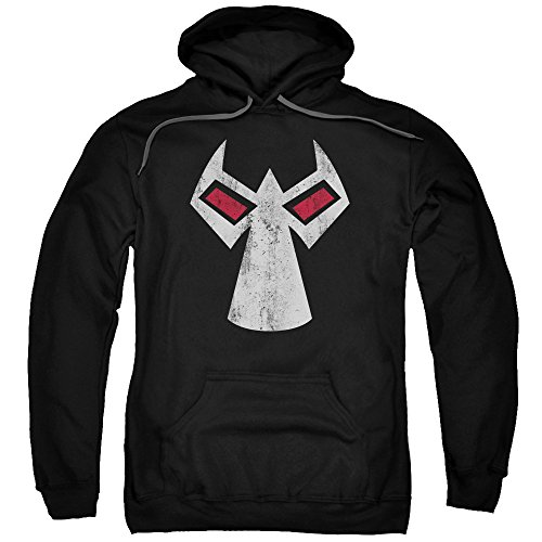 Batman DC Comics Bane Mask Outline Accents Adult Pull-Over Hoodie ()