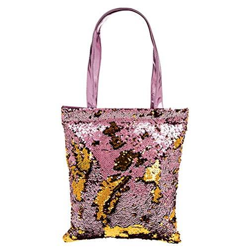 Tone Two Pink Sequin 39x33cm Gold Tote Shopper Magic amp; Bag fw1qgA