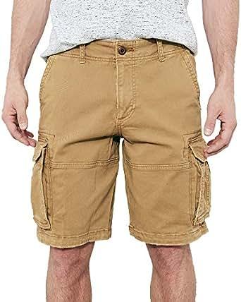 Hollister Men's Khaki Heavy Cotton Cargo Shorts W38