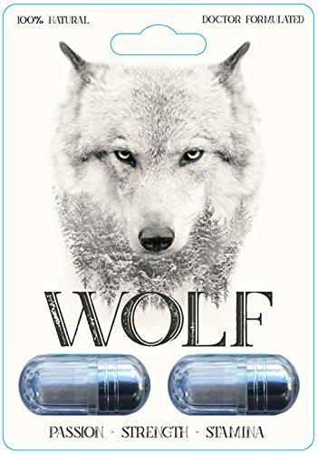 Wolf - Male Enhancement Pill - 10X Strength with Yohimbe, Maca, Tribulus & Ginseng - Energy & Performance Complex for Men & Women, 2000mg Epimedium Powder Pills Supplement, Vegan Capsules