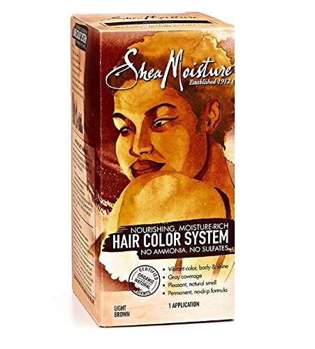 Shea Moisture Light Brown Hair Color System – Sulfate-Free Permanent Hair Dye With No Ammonia – Salon Quality Moisture, Strength & Shine by Shea Moisture