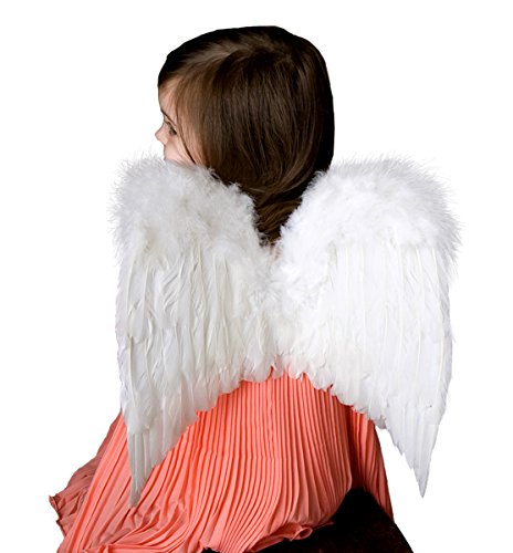 FashionWings (TM Children's Toddler Size White Feather Angel Wings & Headband -