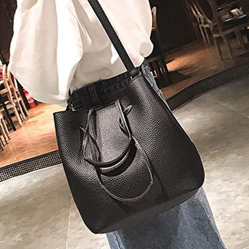della borsa la di di determinato La 4pcs donne borsa borsa cuoio della nero di ha carta Guigsi della il spalla Pu modo delle ntUpw8qUCx