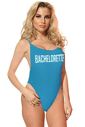 9f14b08b5ab Womens Statement High Cut Vintage One Piece Swimsuit (Small, Turqouise  Bachelorette)