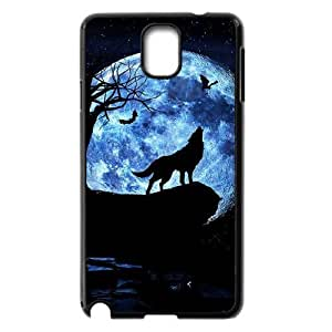 DIY Phone Case for Samsung Galaxy Note 3 N9000, Wolf and Moon Cover Case - HL-R664046