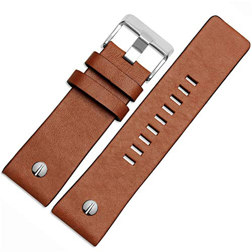 Choco&Man US Men's Genuine Diesel Calfskin Leather Watch Band for Men's Diesel ()