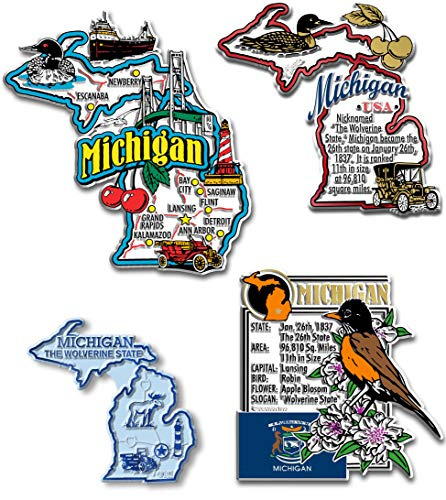 Michigan Four-Piece State Magnet Set