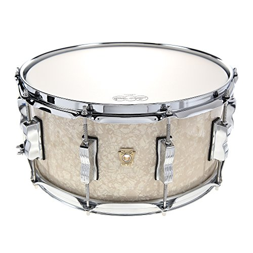 Ludwig Maple Classic Drum - Ludwig 6.5x14 Classic Maple Snare Drum Vintage White Marine