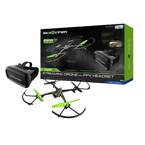 Sky Viper V2400 HD Streaming Drone with FPV Headset -...