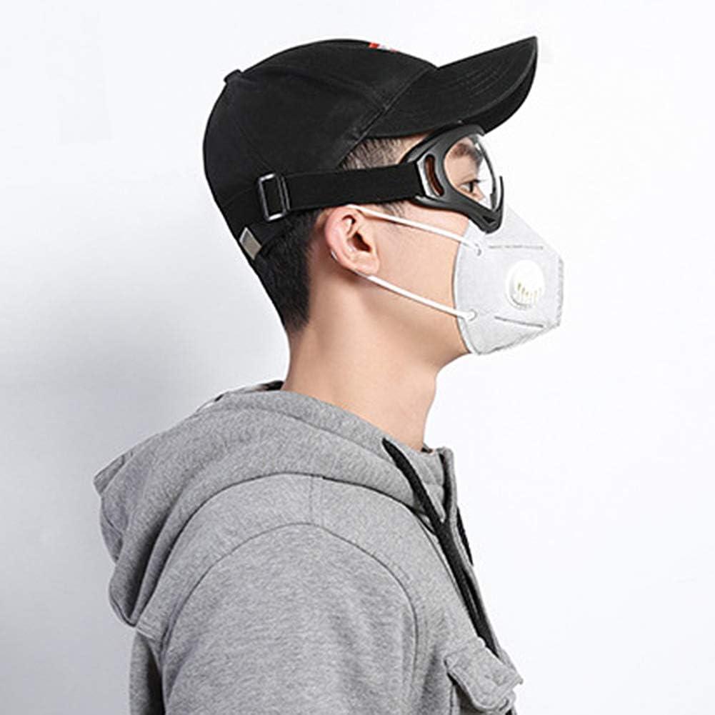 Profesional u prop/ósito Personal antivirus Negro m/áscara de protecci/ón Ocular para Uso m/édico Gafas de Seguridad