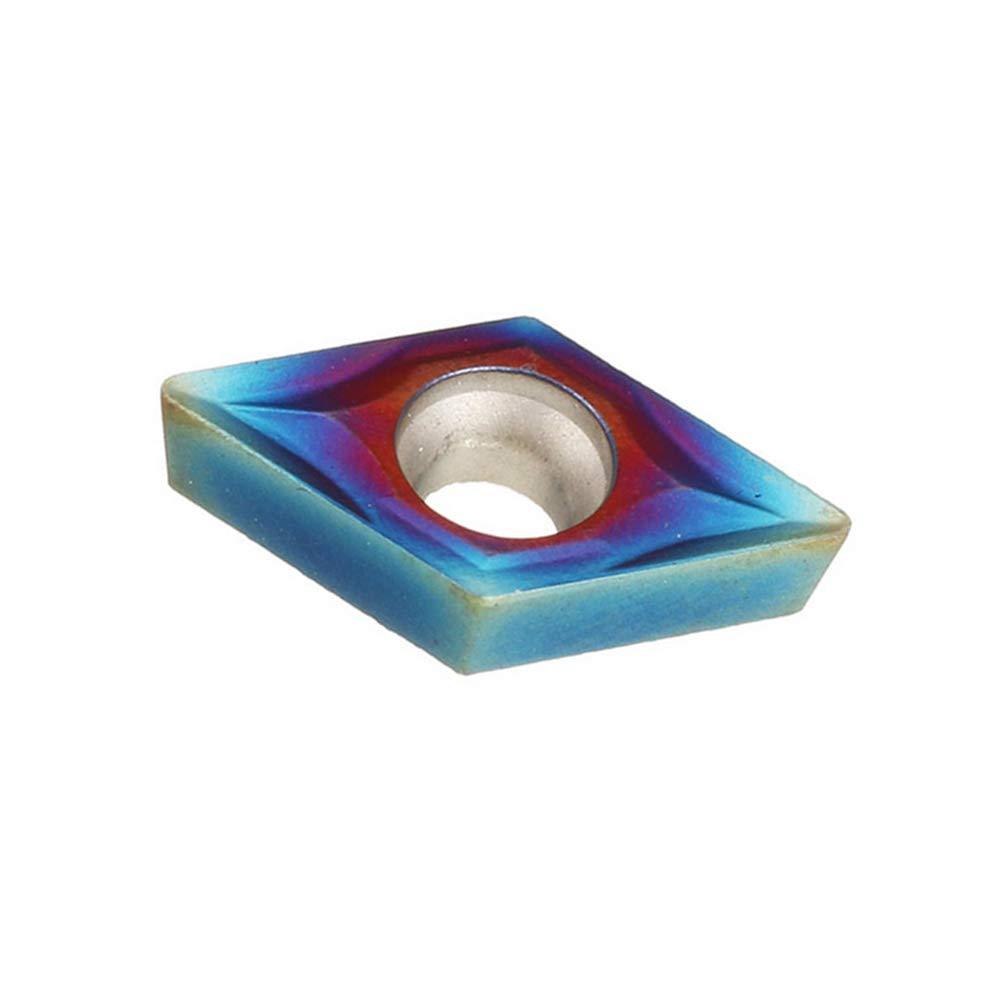Azul Denret3rgu 10 piezas de inserciones de carburo Nano DCMT070204 para SDJCR//SDNCN//SDQCR Portaherramientas de torneado