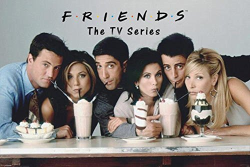 Friends Milkshakes Television Poster 24 x 36in