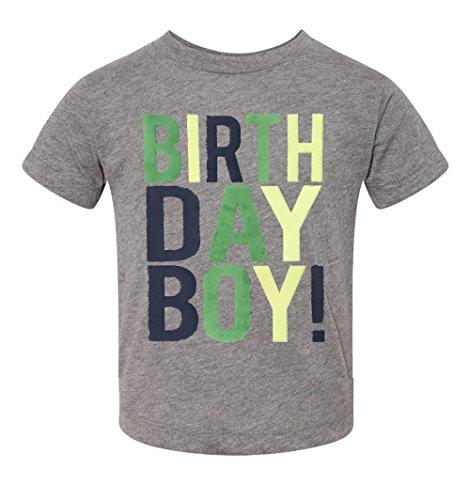 - SoRock Birthday Boy Toddler Kids T-Shirt Heather Grey Youth Medium