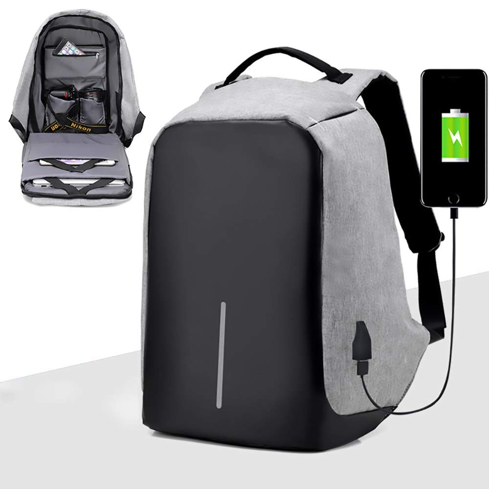 TOMSSL Comfortable Shoulder Bag Multi-Function Computer Bag USB Charging Solid Color Backpack Casual Sports Bag 15.6 Inch Beautiful,