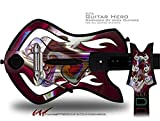 Racer Decal Style Skin - fits Warriors Of Rock Guitar Hero Guitar (GUITAR NOT INCLUDED)