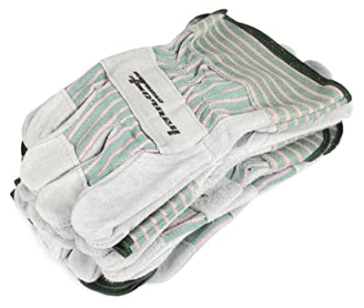 Forney Cowhide Leather Palm Men's Work Gloves, 6-Pack