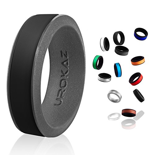 UROKAZ Silicone Wedding Ring, The Only Ring that Fits Your Lifestyle - Whether You are Single or Married, Ring is Right for You - It is Fashionable, Flexible, and (Palladium Celtic Ring)