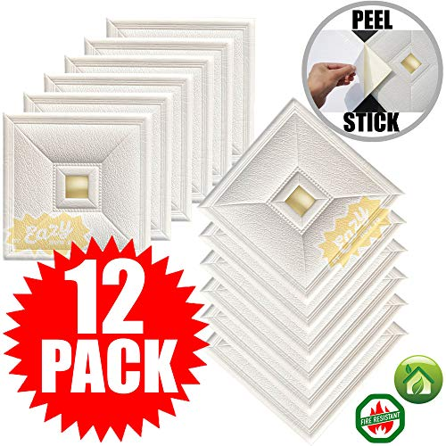 Eazy How To 12 Pack Ceiling Tiles 12